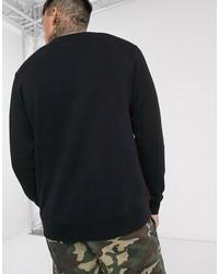 vans classic sweatshirt in black