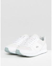 lacoste trajet sneakers in off white