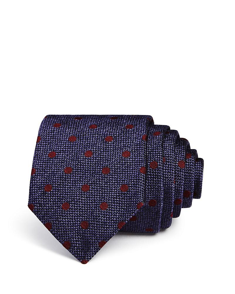 the men's store at bloomingdale's textured dot skinny tie - 100% exclusive