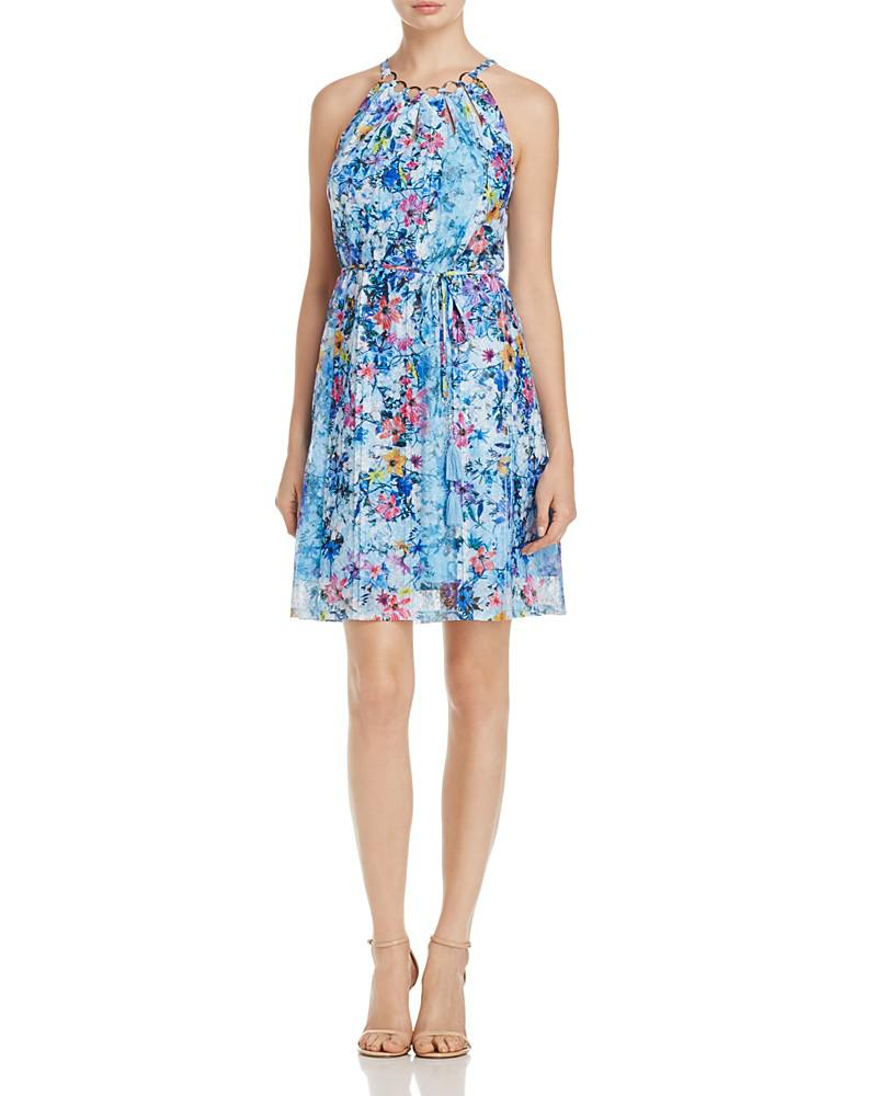 t tahari deborah floral-print dress