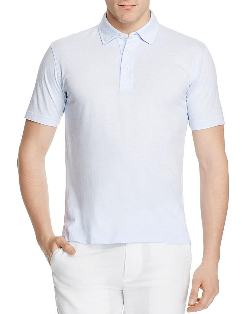 brooks brothers self-collar birdseye slim fit polo shirt