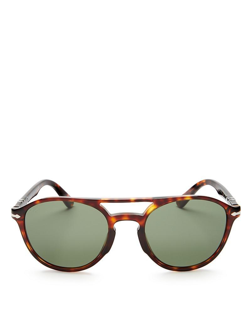 persol galleria round sunglasses, 52mm