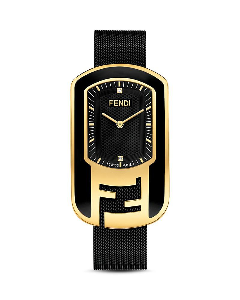 fendi chameleon diamond watch, 49mm