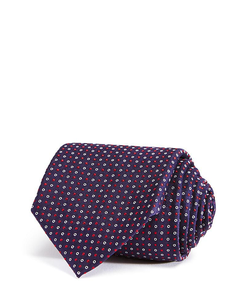 boss mini open close circle classic tie