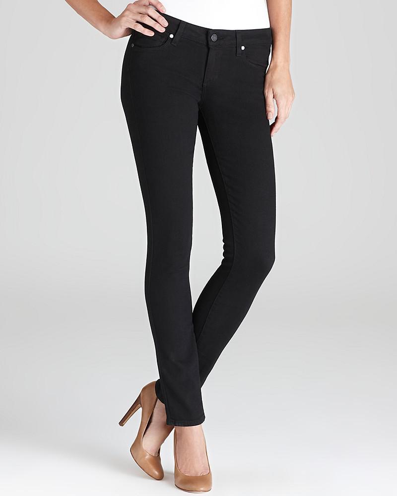 paige denim jeans - transcend verdugo ultra skinny in black shadow