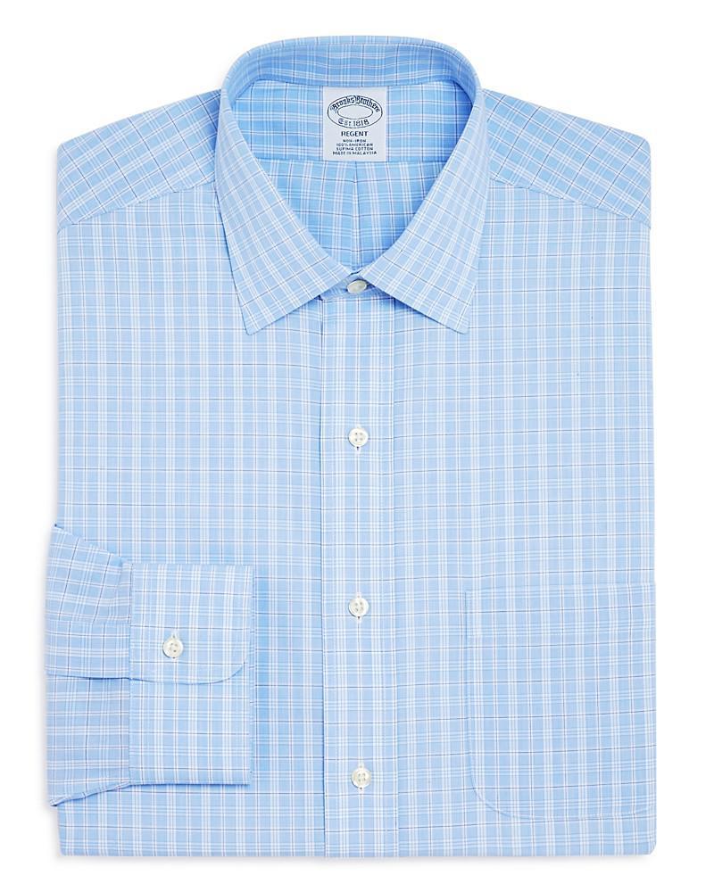 brooks brothers overcheck regent classic fit dress shirt