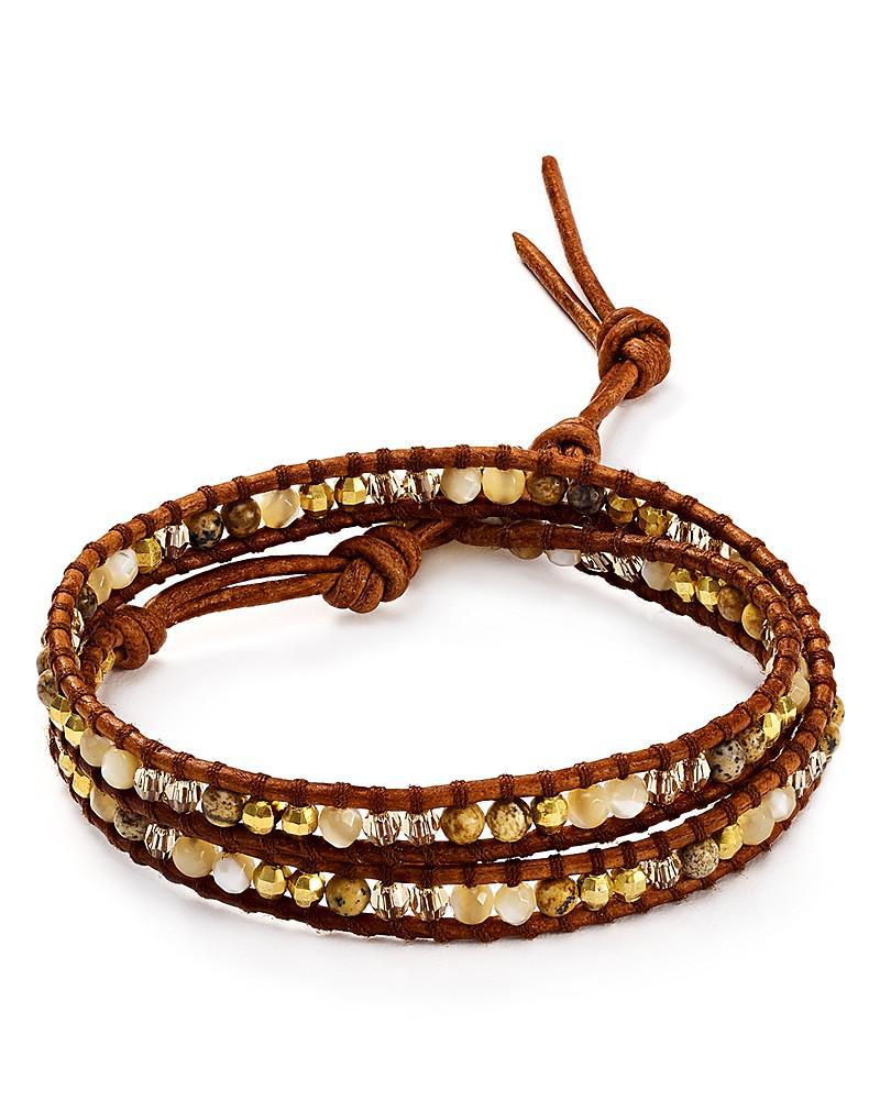 chan luu picture jasper mix wrap bracelet