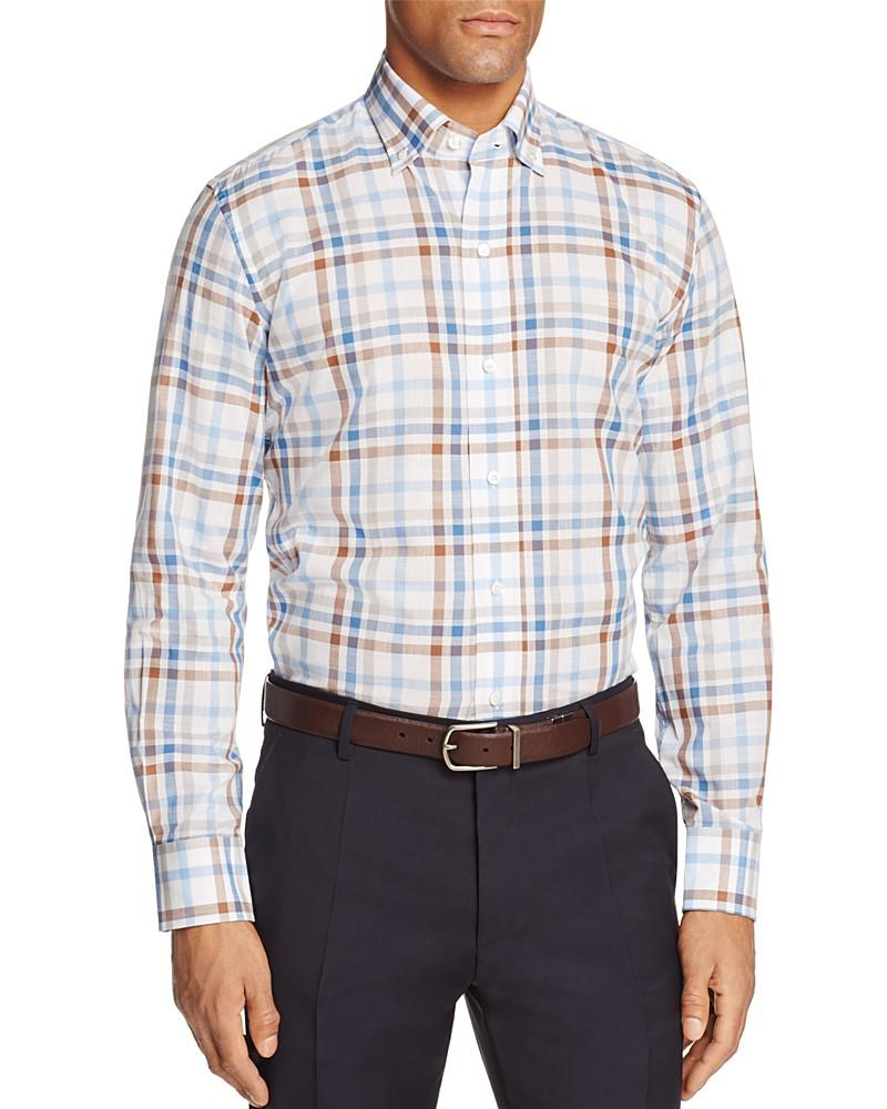 ledbury check slim fit button-down shirt