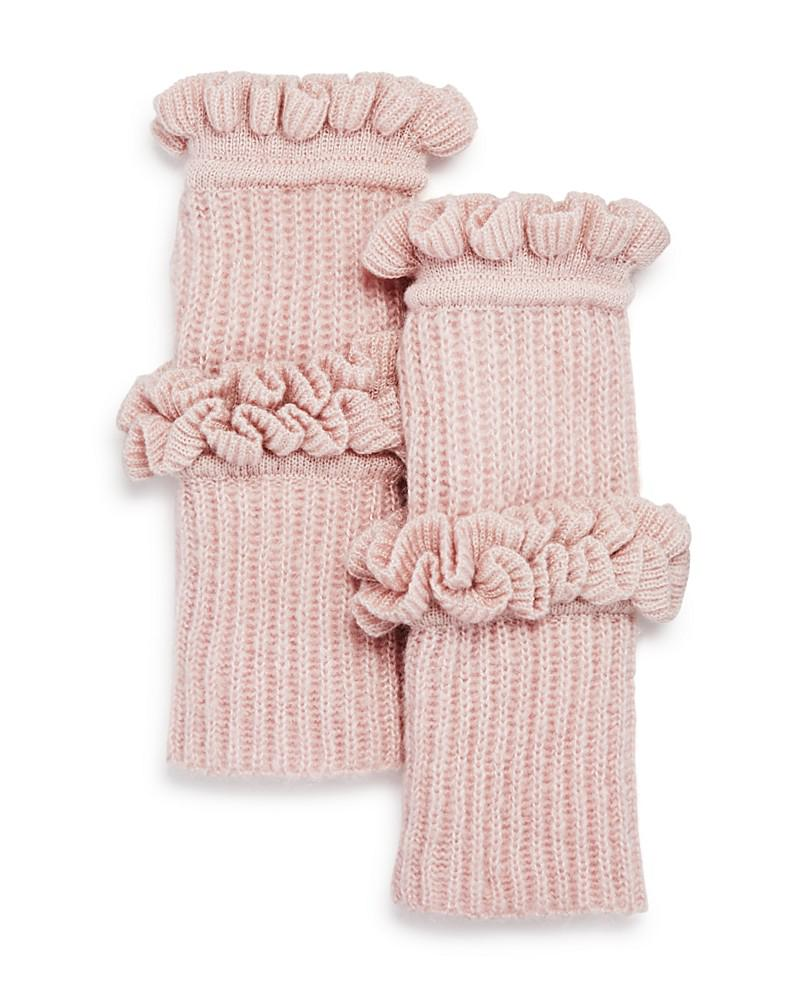 rebecca minkoff ruffled fingerless gloves
