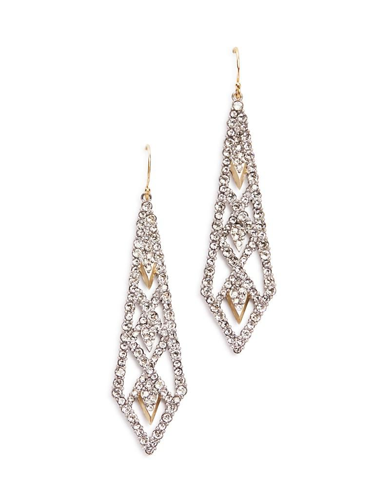 alexis bittar spiked lattice drop earrings