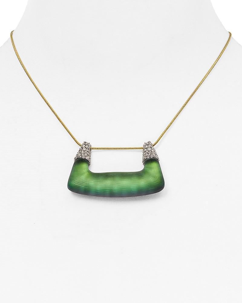 "alexis bittar swarovski crystal pendant necklace, 14"""