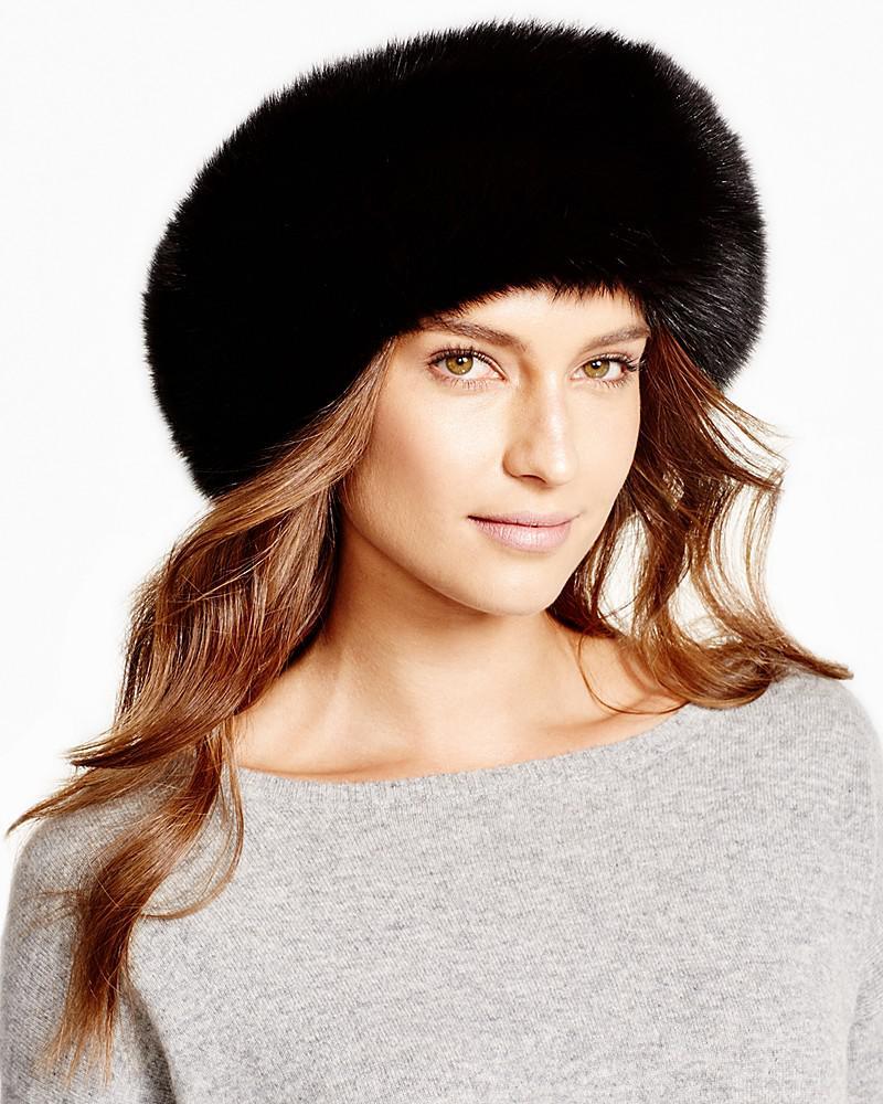 maximilian fox fur headband