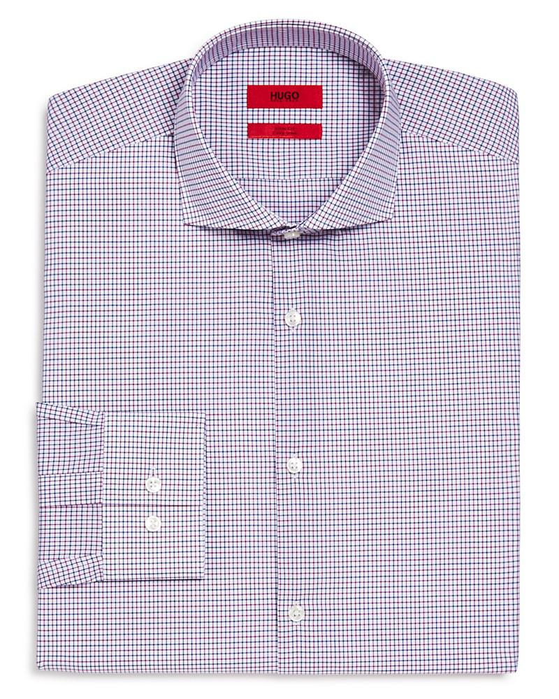 hugo c-jason tonal check slim fit dress shirt