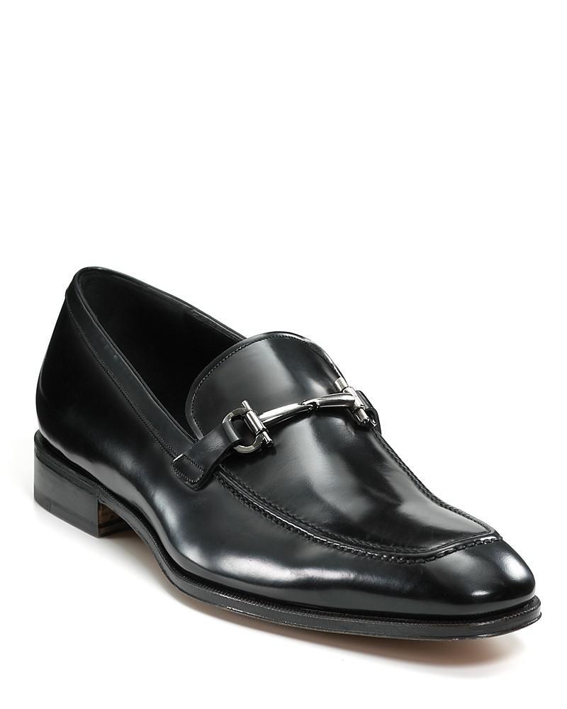 salvatore ferragamo patent leather bit loafers