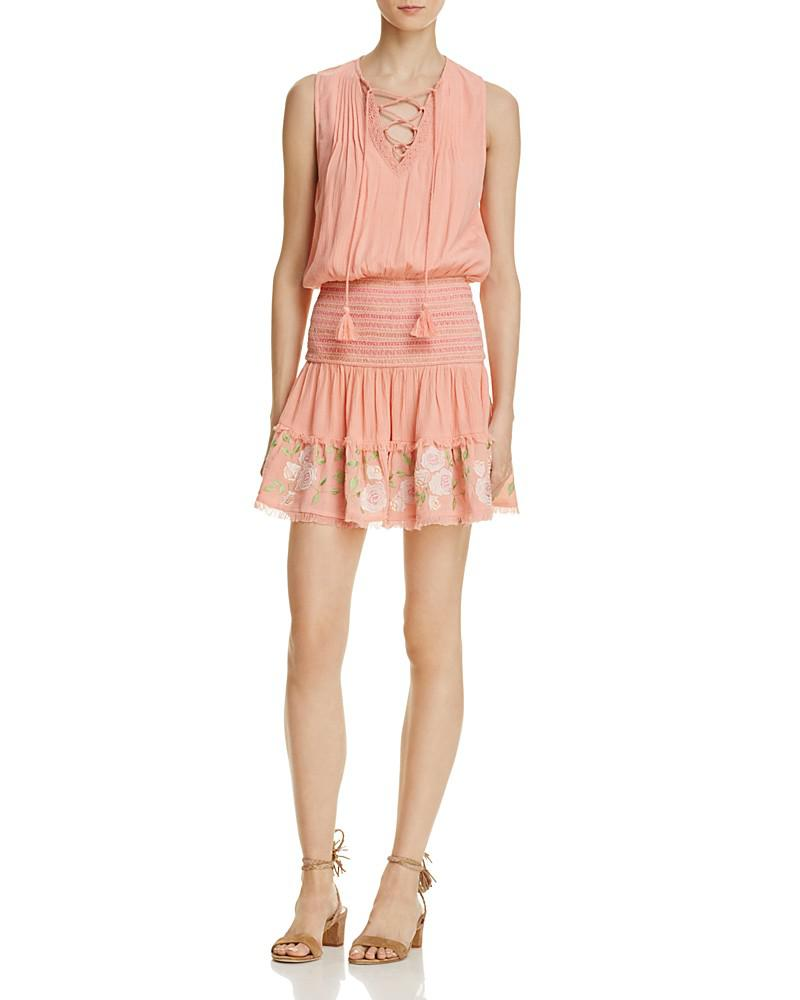 rahicali rosy lace-up dress