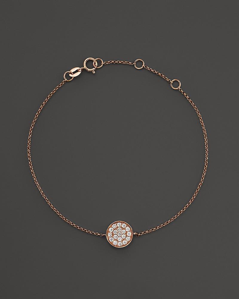 diamond disc bracelet in 14k rose gold, .25 ct. t.w.