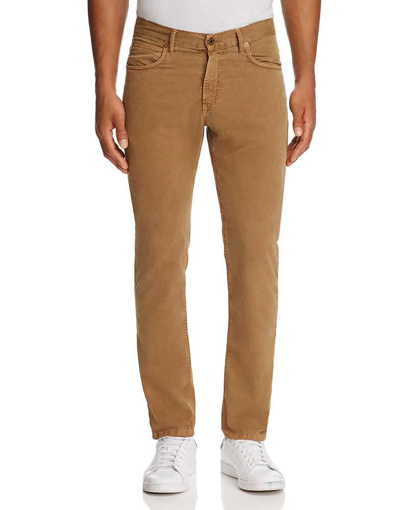 billy reid stretch-twill slim fit pants