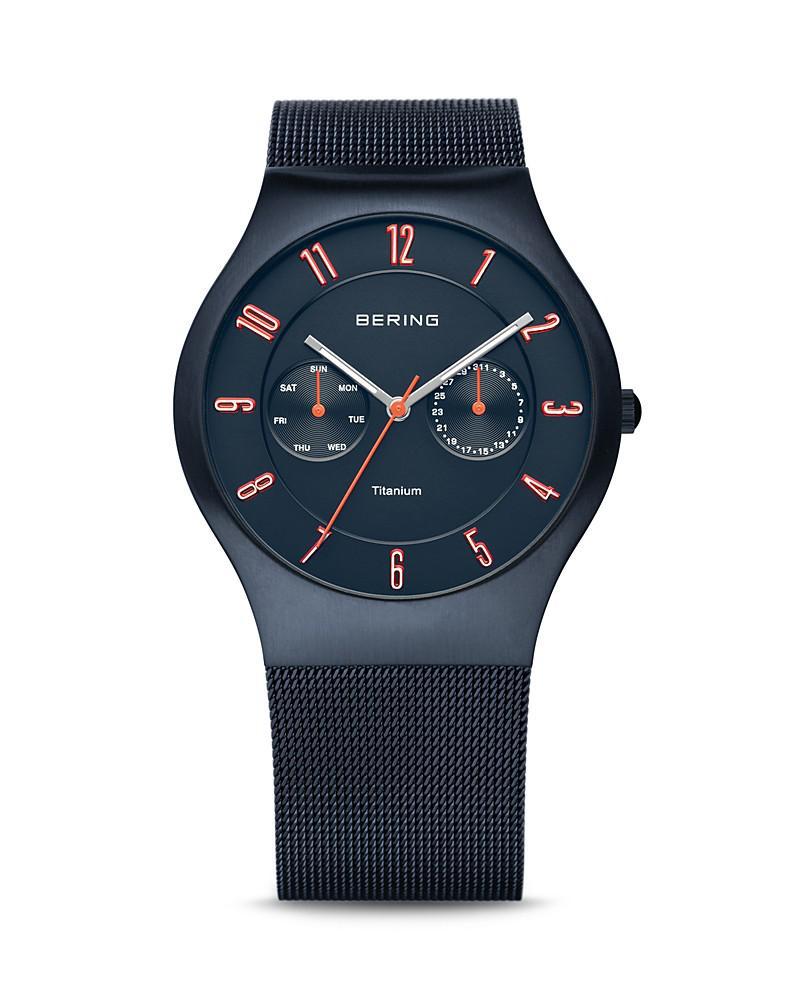 bering mesh strap watch, 39mm