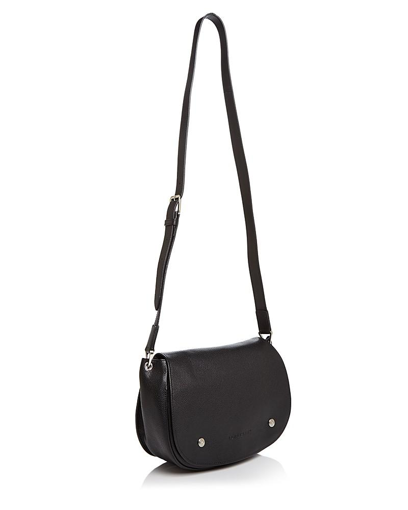 Le Foulonne Leather Saddle Bag by Longchamp ce623042f27b1