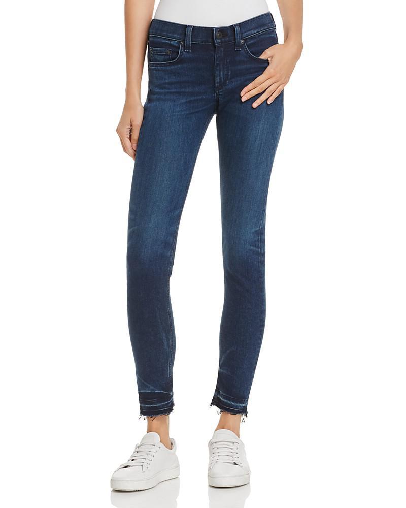 rag & bone/jean released-hem skinny jeans in alembic