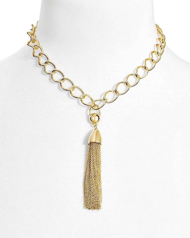 """baublebar link tassel pendant necklace, 16"""""""