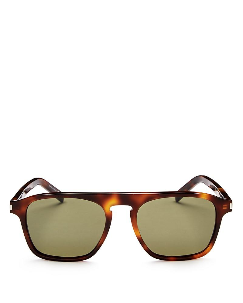 saint laurent sl158 keyhole square sunglasses, 52mm
