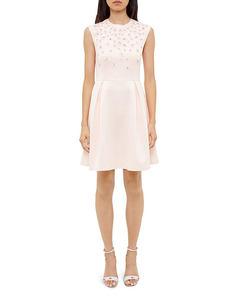 ted baker yadara embellished skater dress