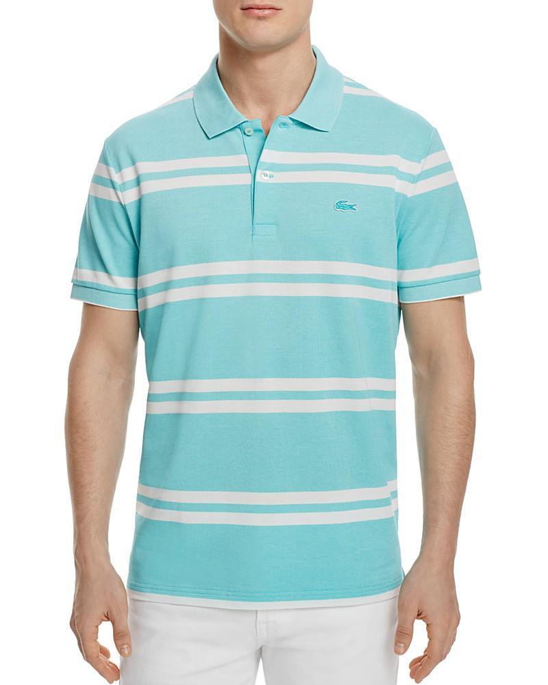 lacoste stripe regular fit polo - 100% exclusive
