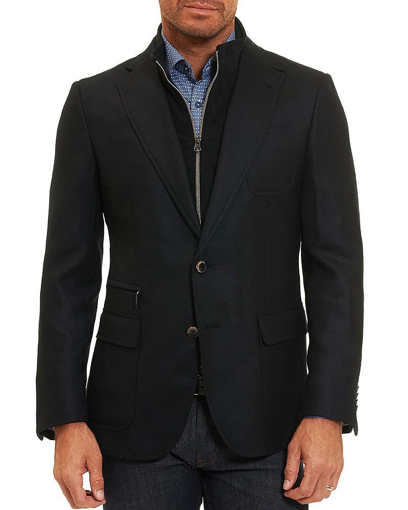 robert graham layered classic fit sport coat