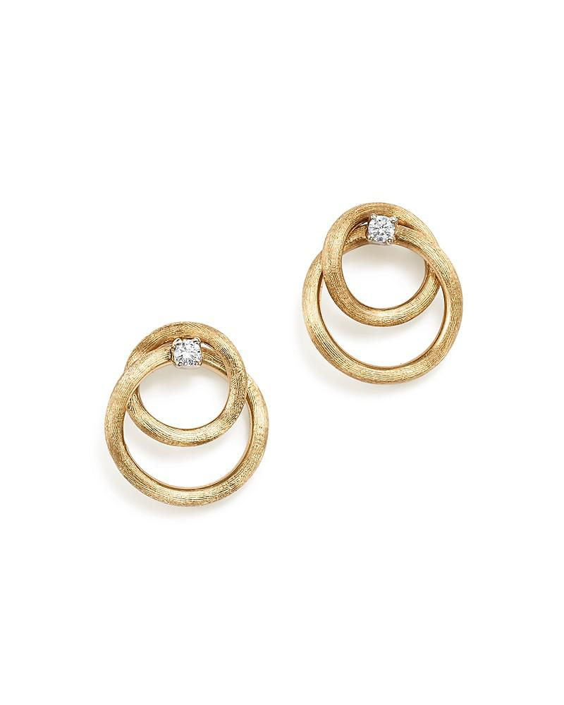 marco bicego 18k yellow gold luce diamond link stud earrings - 100% exclusive