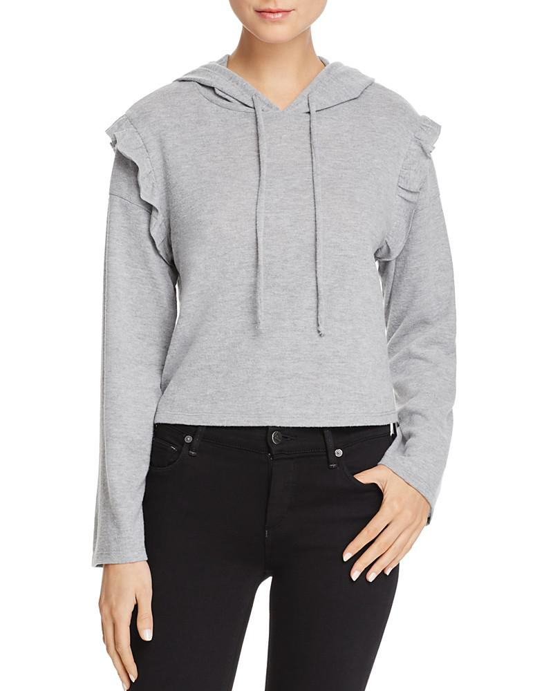 project social t ruffle-sleeve hoodie - 100% exclusive
