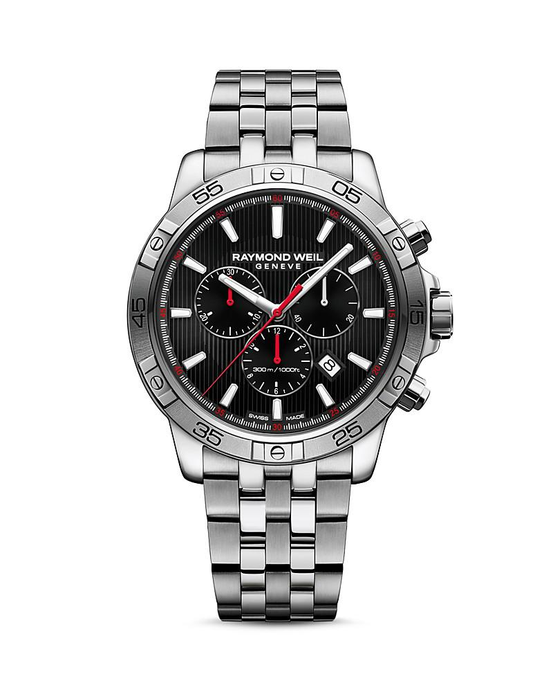 raymond weil tango 300 chronograph bracelet watch, 43mm