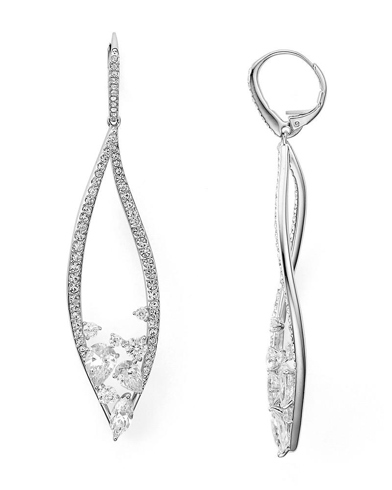 nadri calla short leverback earrings