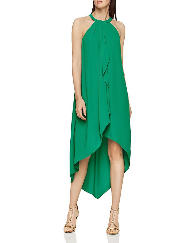 bcbgmaxazria lanna layered high/low dress