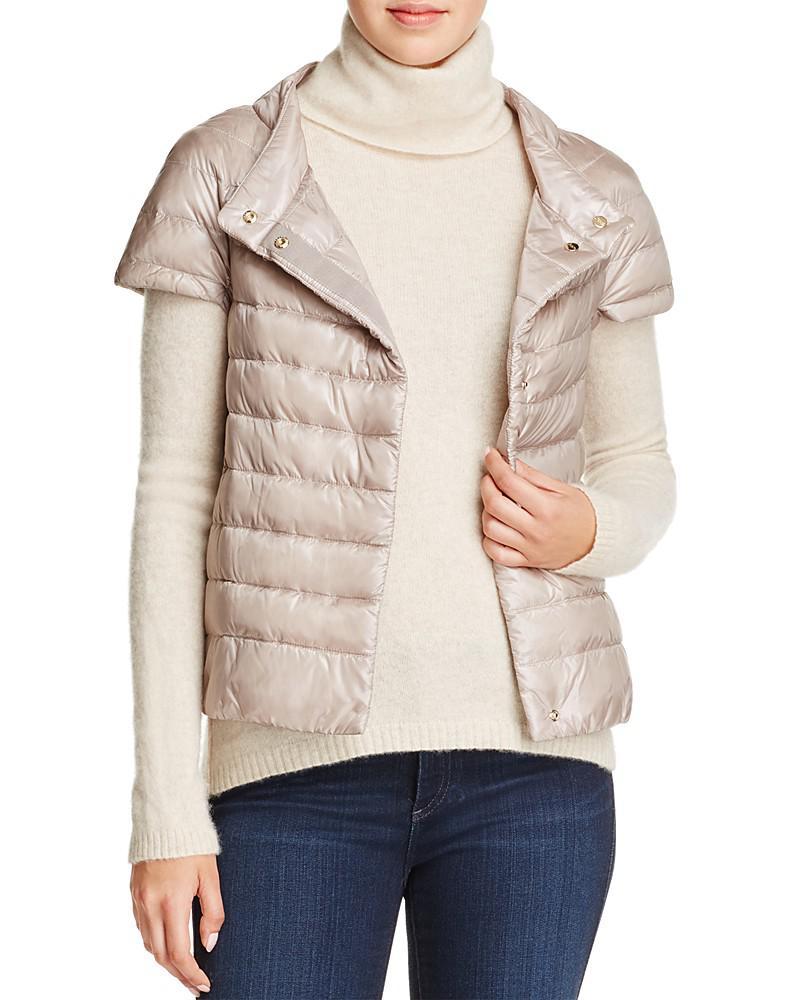 herno cap-sleeve short down vest