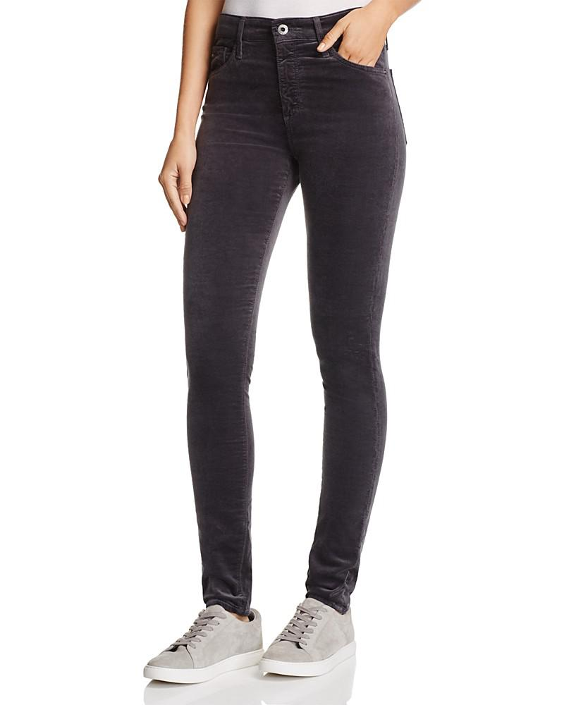 ag farrah velvet skinny jeans in rich mercury