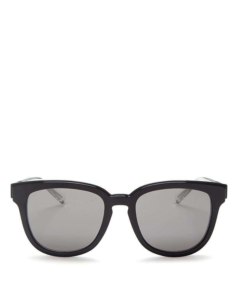 dior homme black tie 213 rectangle sunglasses, 52mm