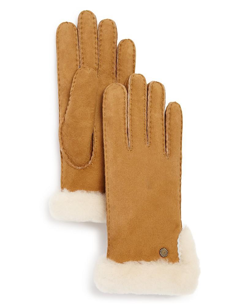 ugg sheepskin slim side vent gloves