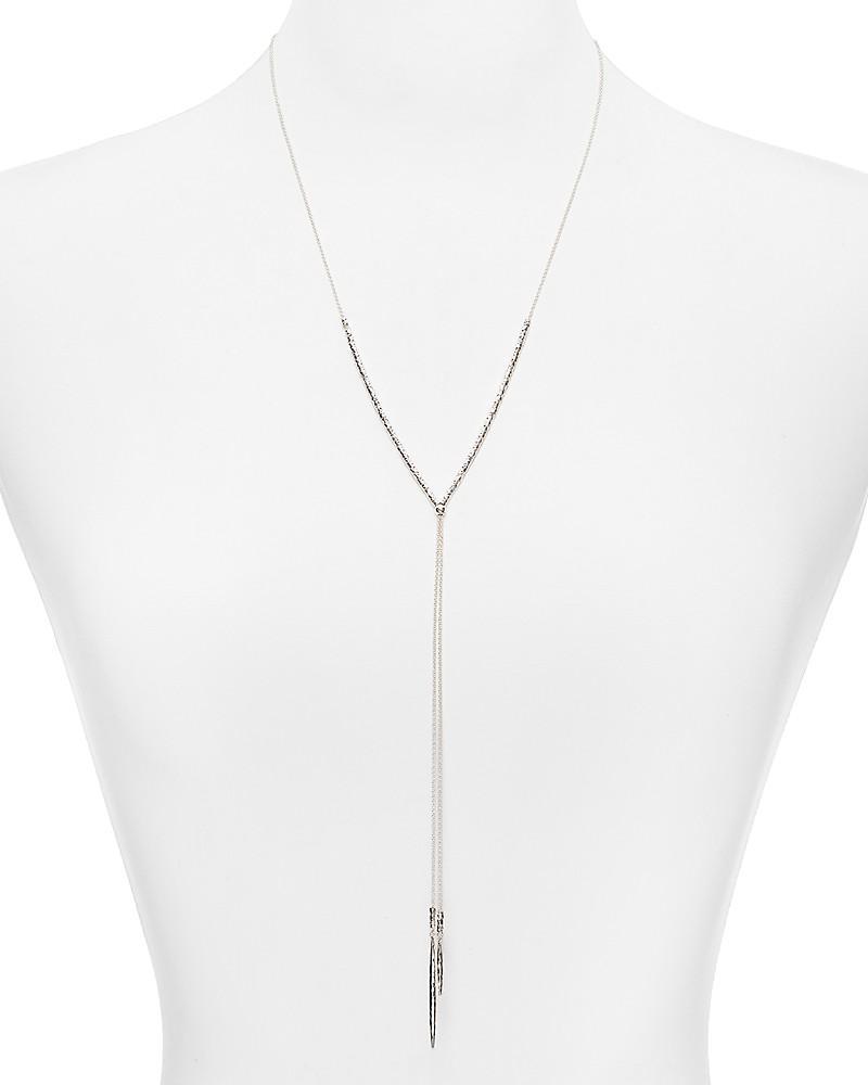 "gorjana laguna adjustable beaded necklace, 18.75"""