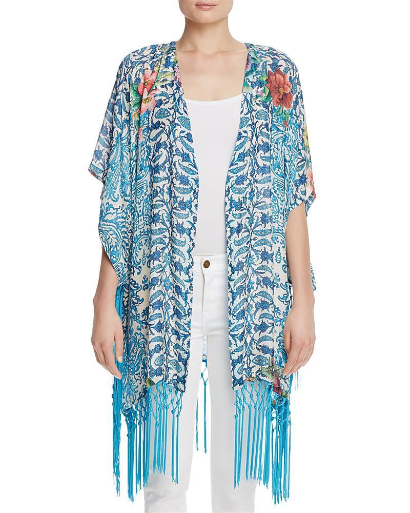 johnny was horizon fringe kimono