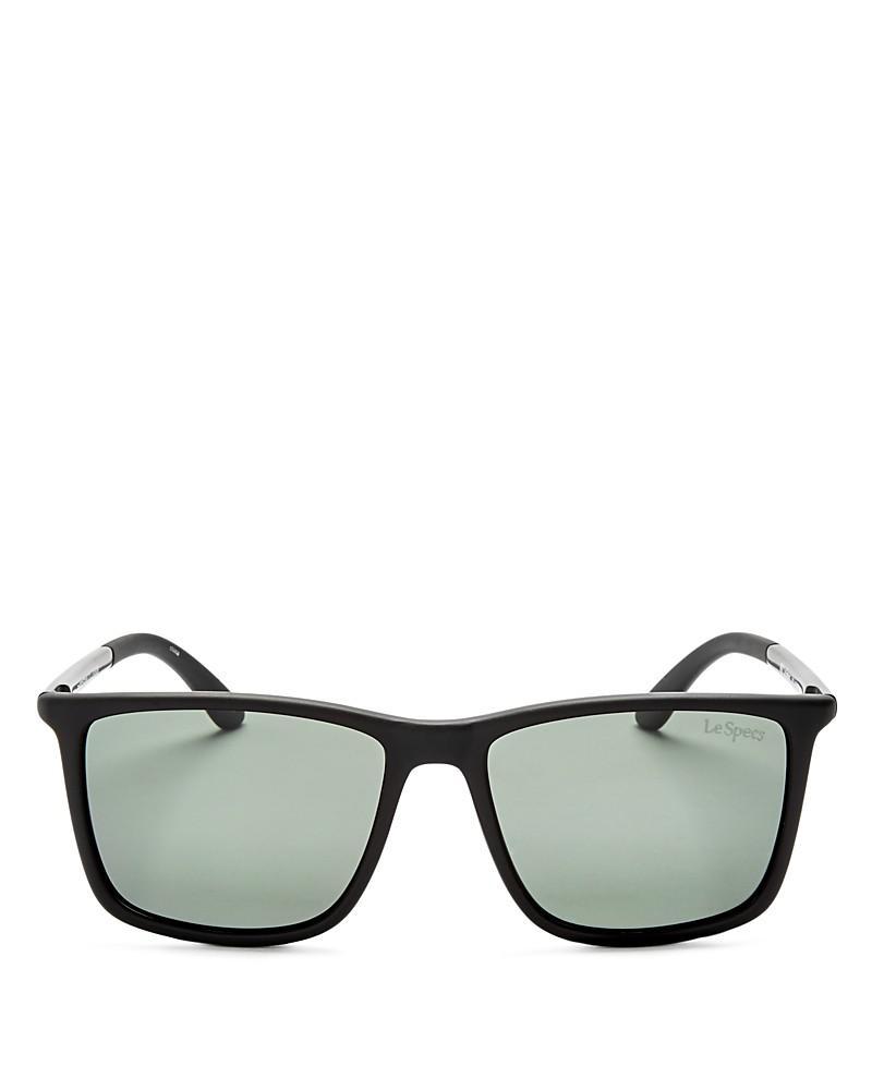 le specs tweedledum polarized square sunglasses, 55mm