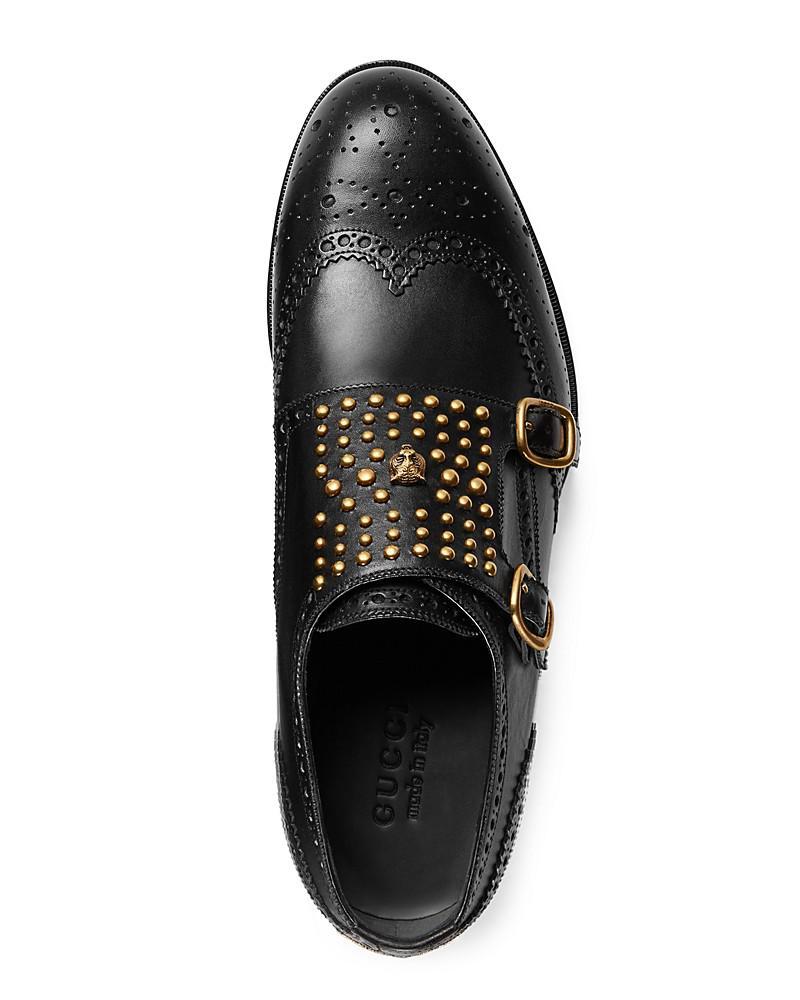 Gucci Iowa Double Monk Strap Loafers