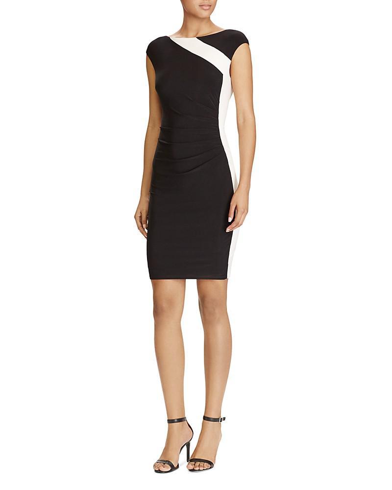 lauren ralph lauren color-block dress