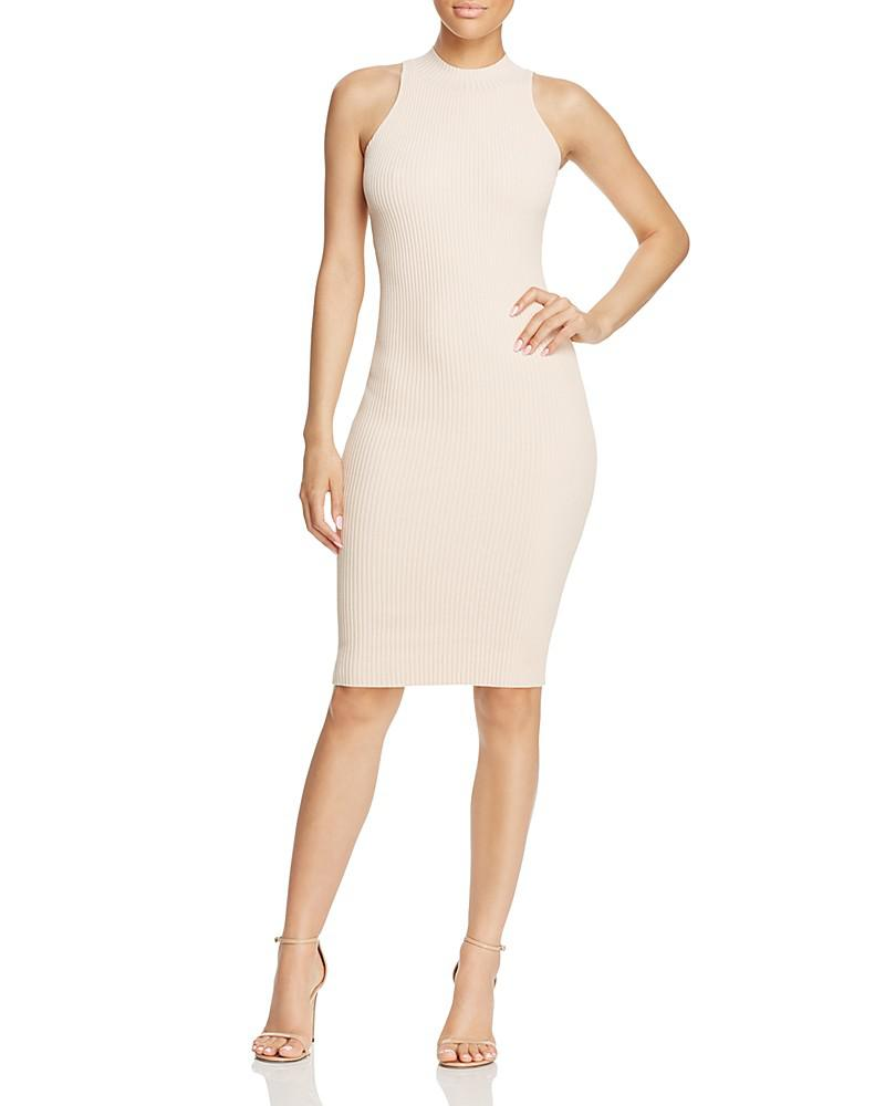 olivaceous knit bodycon dress - 100% exclusive