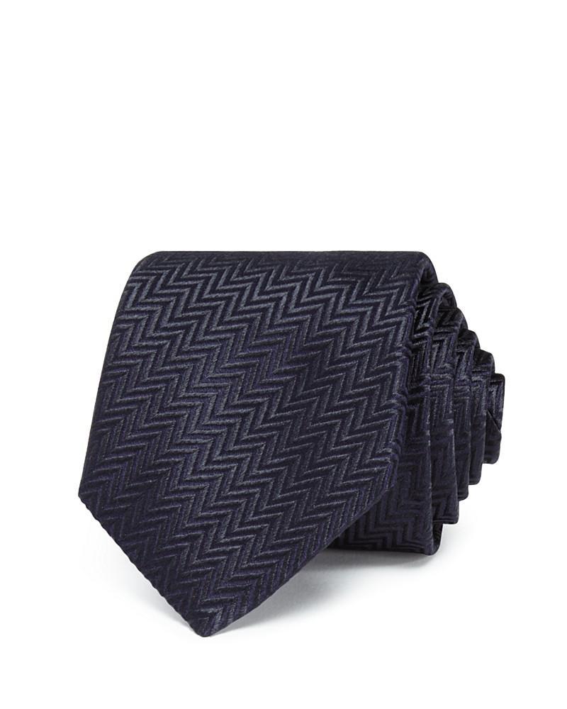 armani collezioni diagonal zigzag classic tie