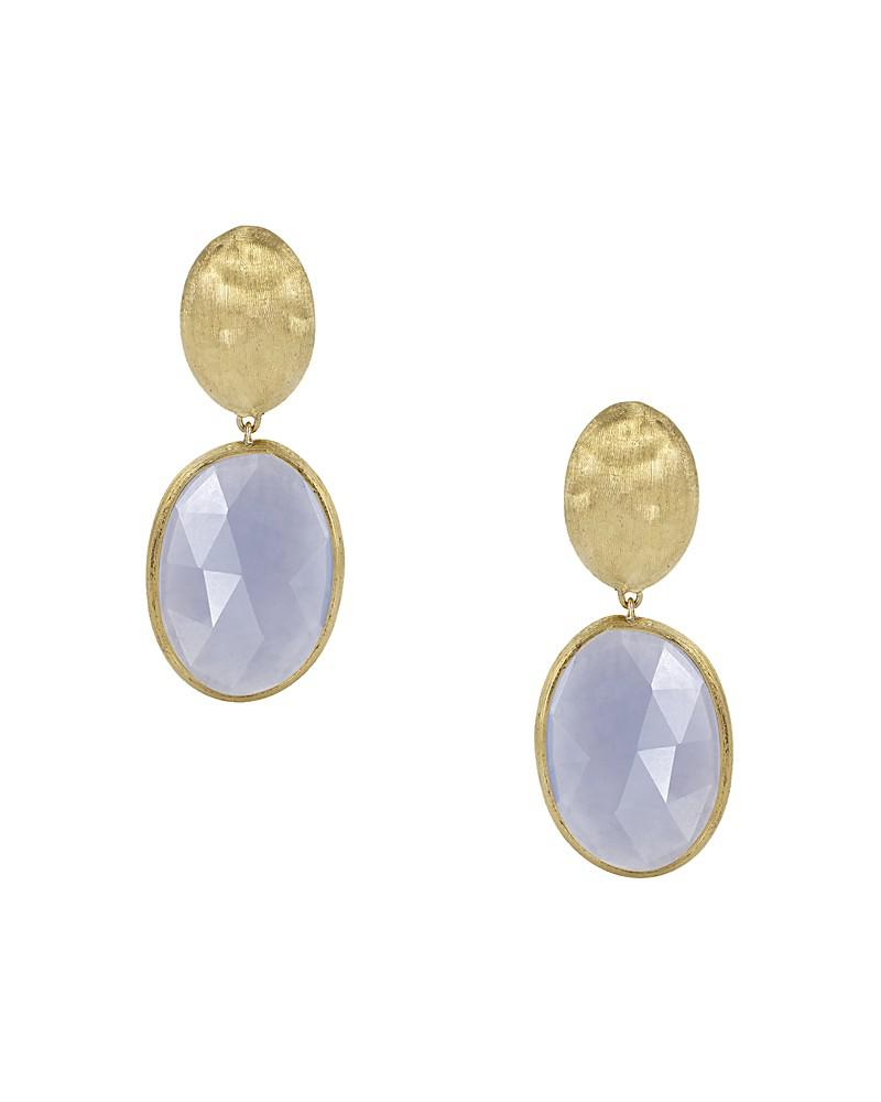 marco bicego 18k yellow gold chalcedony siviglia earrings