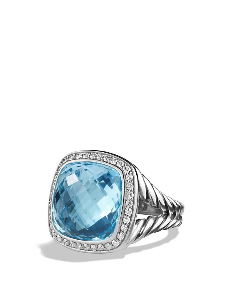 david yurman albion ring with blue topaz and diamonds