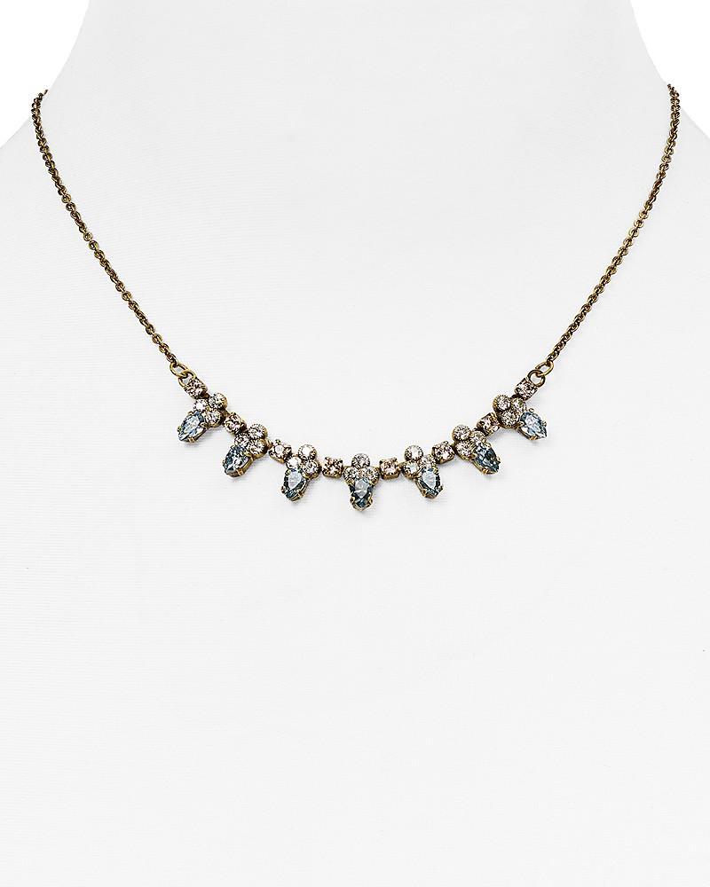 """sorrelli coastal mist small bib necklace, 14"""""""