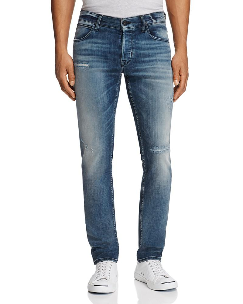 hudson axl super slim fit jeans in battery