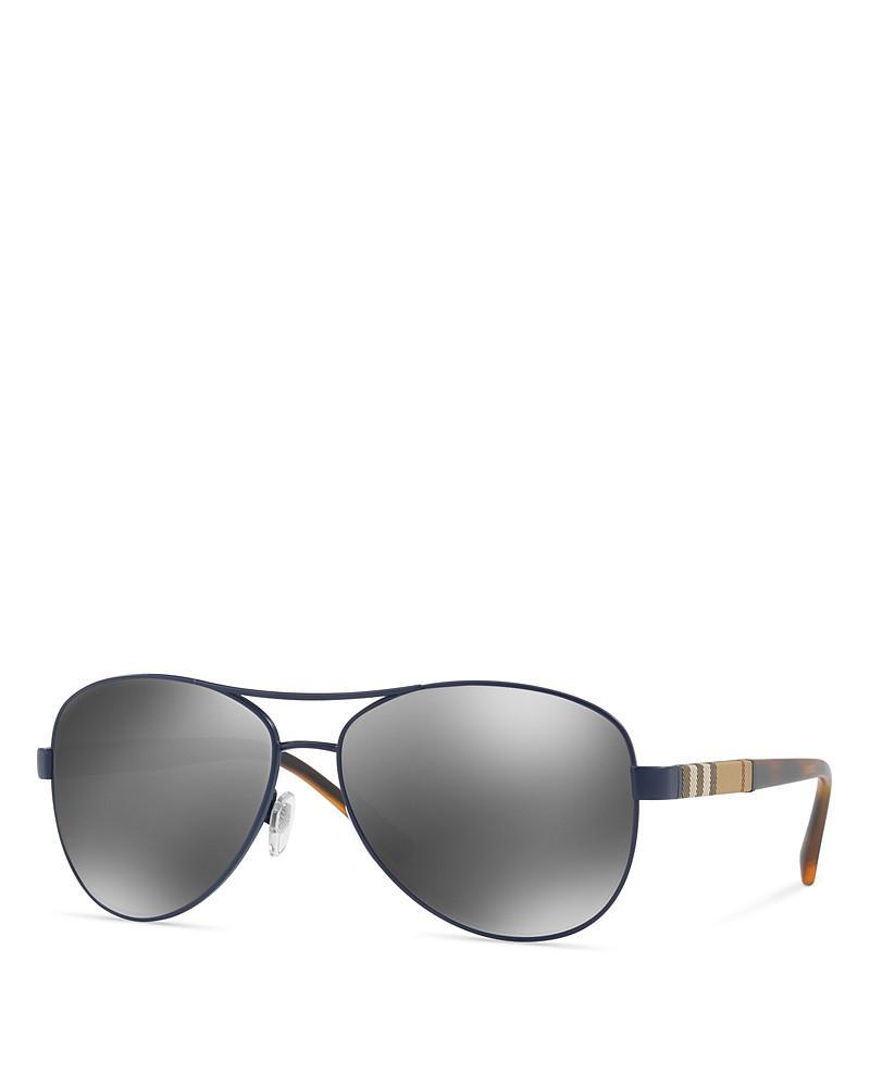burberry pilot honey check sunglasses
